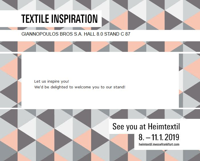 Invitation to Heimtextil 2019